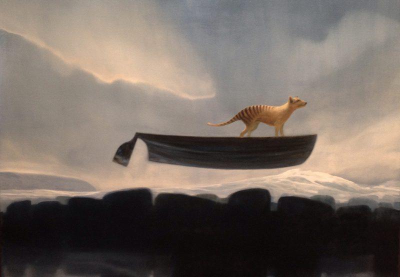 Graeme Altmann, Caught in a low tide 2014 oil on linen 135 x 198 cm