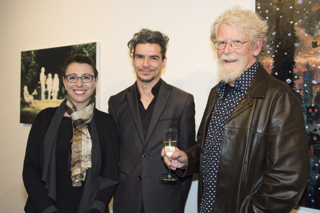 BAAP 2017 winner Michael Vale with judges Samantha Comte and Michael Brennan