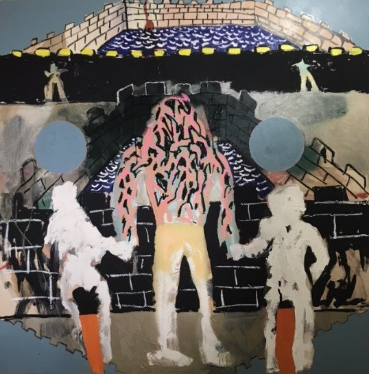 Martin Bell, Untitled 2018 acrylic on board 120 x 120 cm