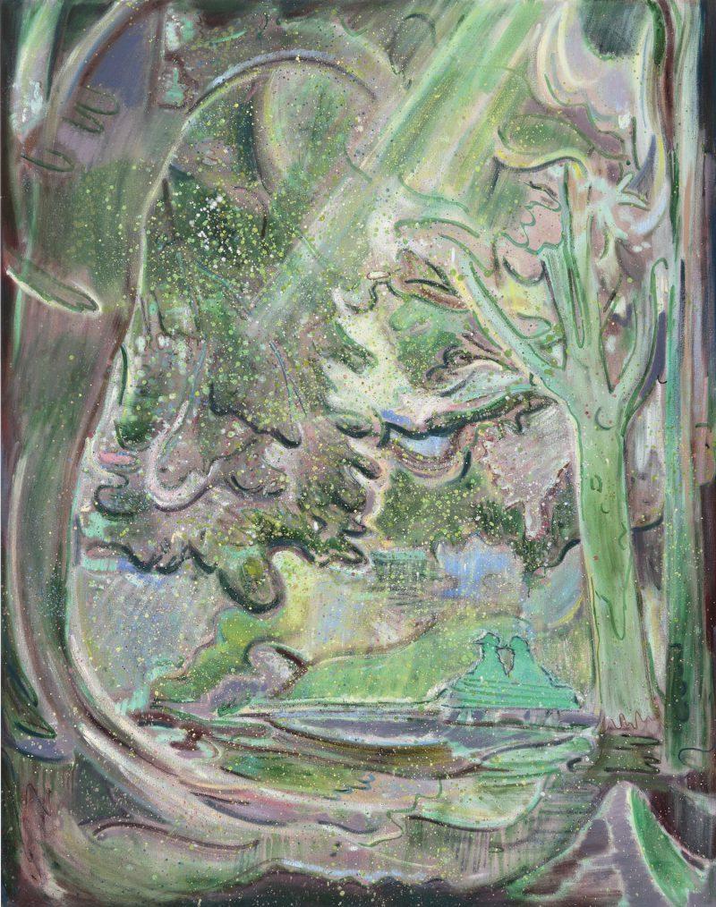 Seth Birchall, Hey man, blink blink 2018 oil on canvas 152 x 122 cm
