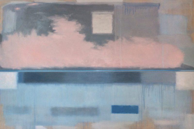 Lynne Boyd, If by air, Port Phillip Bay 2015 oil on linen 122 x 184 cm