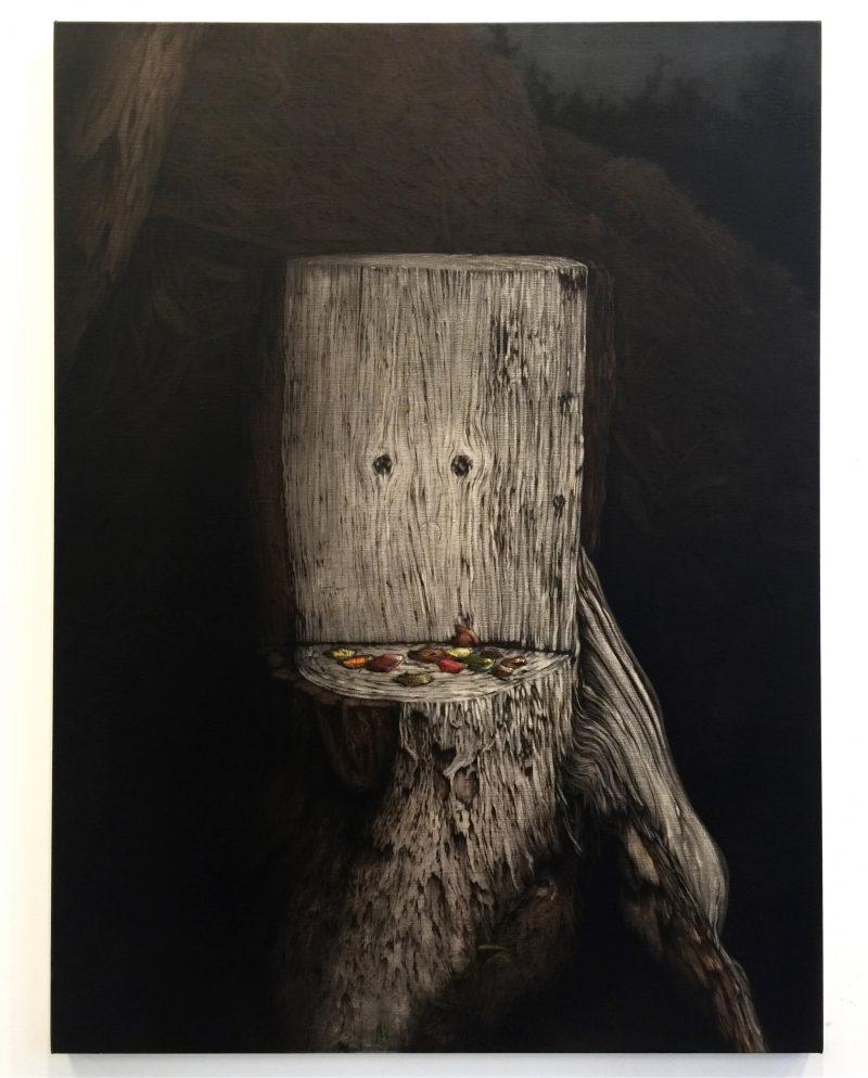 Andrew Browne, Stumpy (in nocturnus) 2017 oil on linen 120 x 89.5 cm