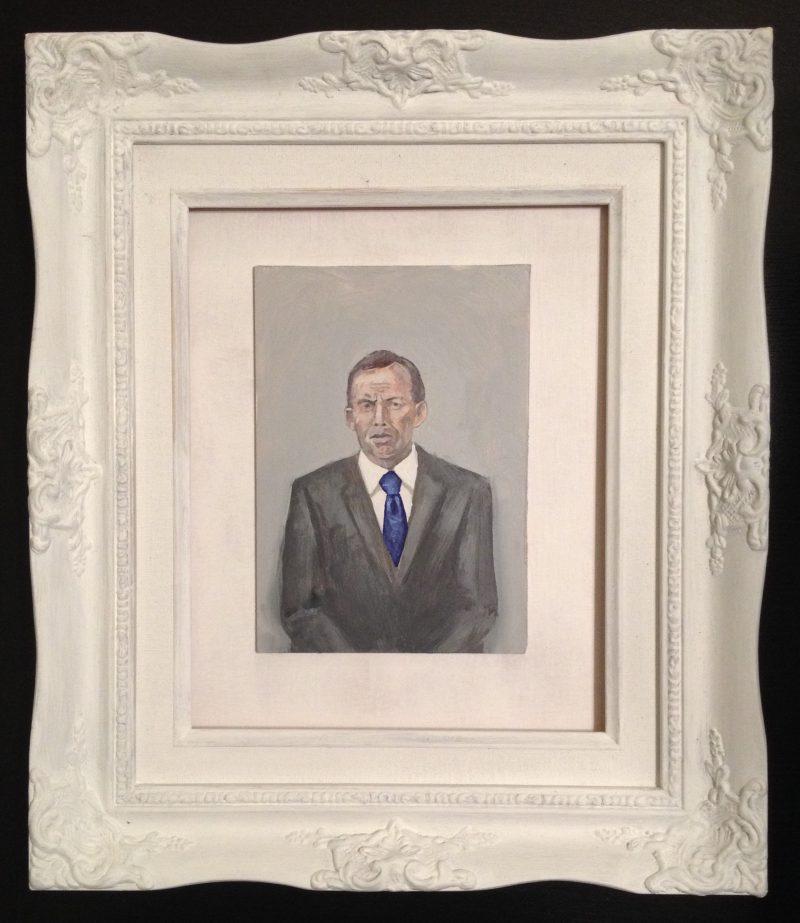 Samuel Rush Condon, Portrait of my father 2015 oil on composition board 18 x 13 cm