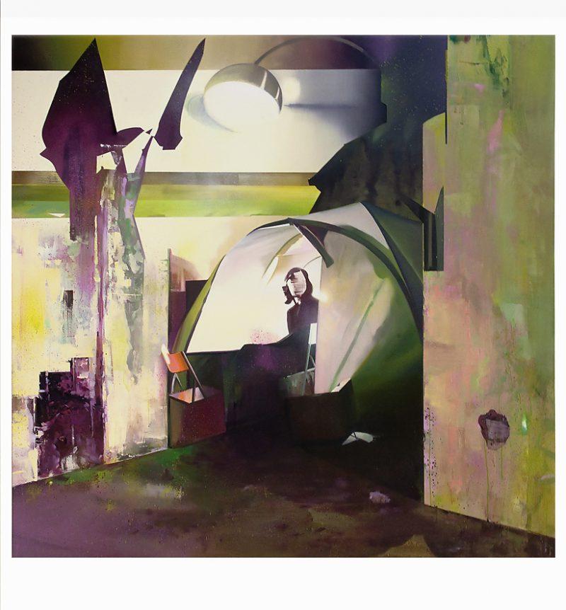 David Ralph, Camp site 2015 oil on canvas 190 x 200 cm