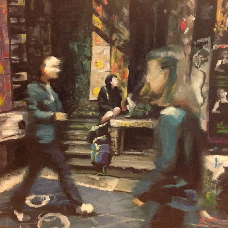 Carla Edgerton, Centre Place 2016 oil on board 25 x 25 cm