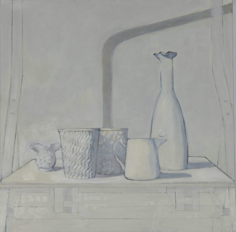 Isobel Clement, Volumes and shadows 2014 oil on linen 61 x 61 cm