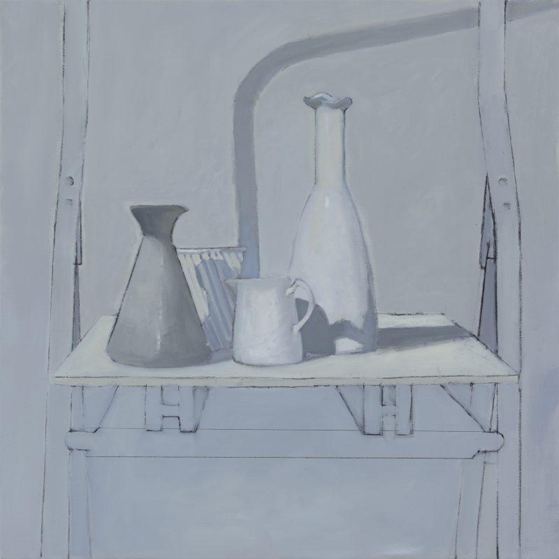 Isobel Clement, Raft 2015 oil on linen 61 x 61 cm