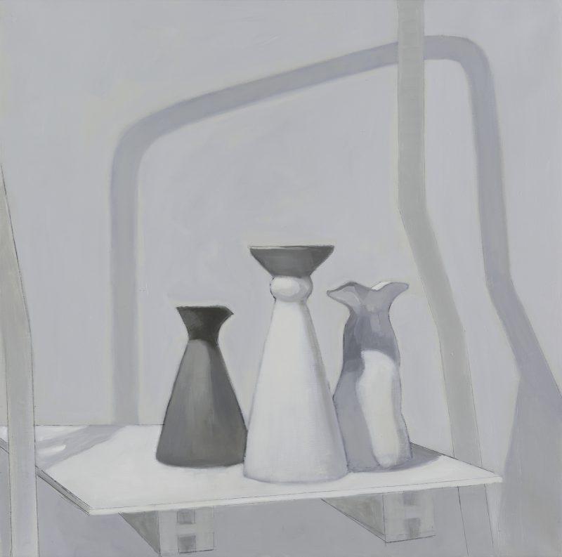 Isobel Clement, Raft 2 2016 oil on linen 61 x 61 cm
