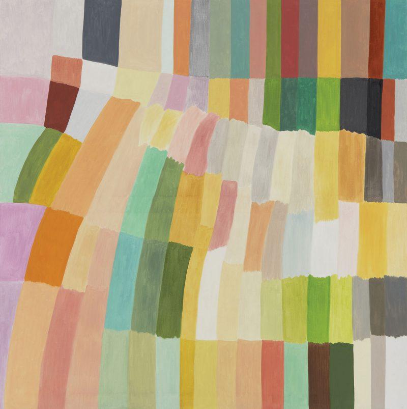 Renee Cosgrave, Yeddonba balai and Yackandandah 2018 oil on canvas 152 x 152 cm