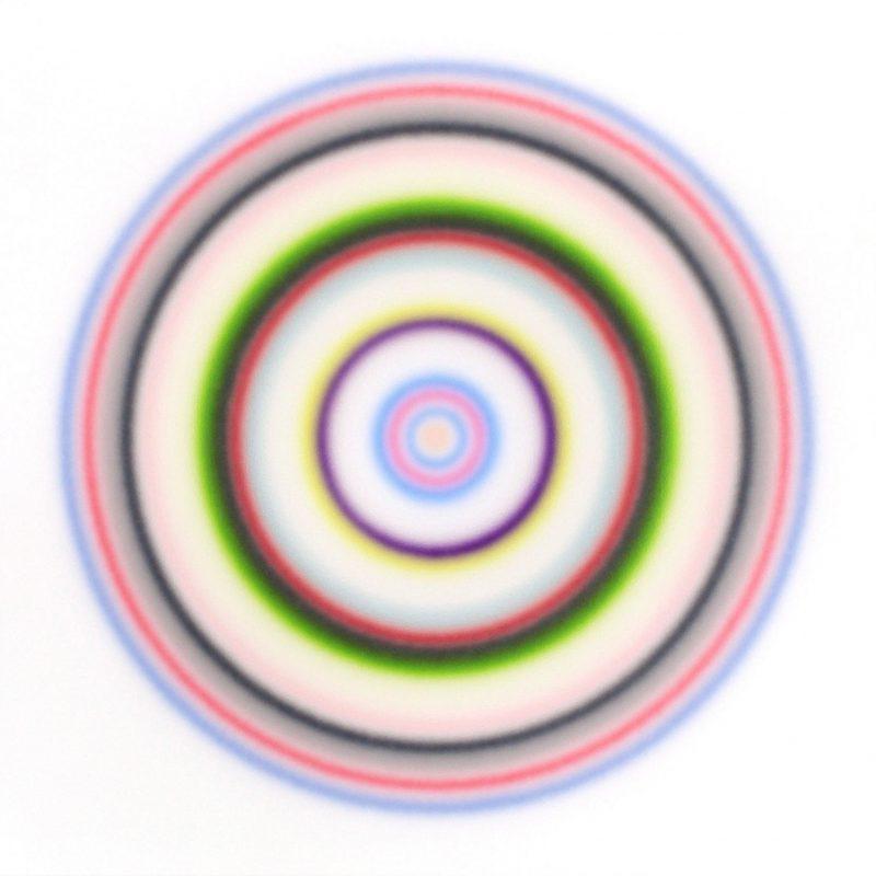 Marcel Cousins, Warm embrace 2018 airbrush acrylic on canvas 120 x 120 cm