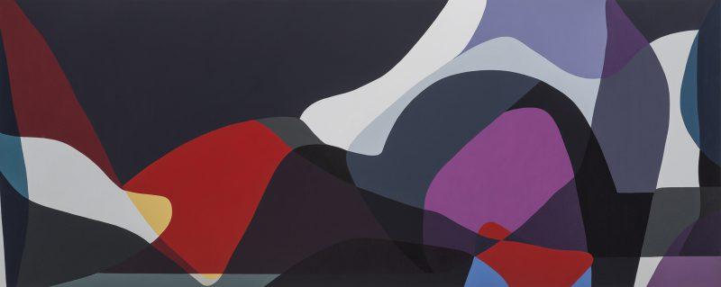 Jennifer Goodman, Sweep 1 2014 oil on linen 100 x 250 cm
