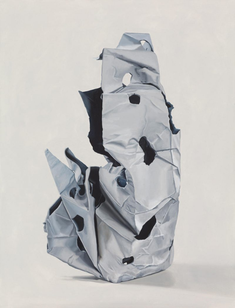 Kez Hughes, Anne-Marie May, Untitled (grey) 2017, Murray White Room 2018 oil on cotton 60 x 60.5 cm