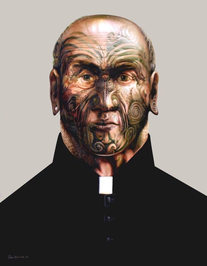 Paul Jackson, I AM PRIEST 2016 oil on linen 130.5 x 105 cm