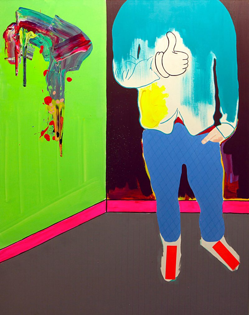 Jaye Early, I'm betting on myself 2015 synthetic polymer paint, enamel, fluorescent tape, and permanent marker on canvas 152 x 122 cm