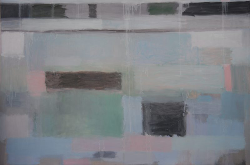 Lynne Boyd, Immersion 2017 oil on linen 122 x 182 cm
