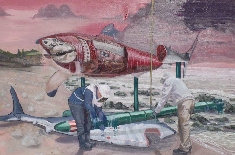 Jarrad Martyn, GWS 2016 oil on canvas 64 x 89 cm