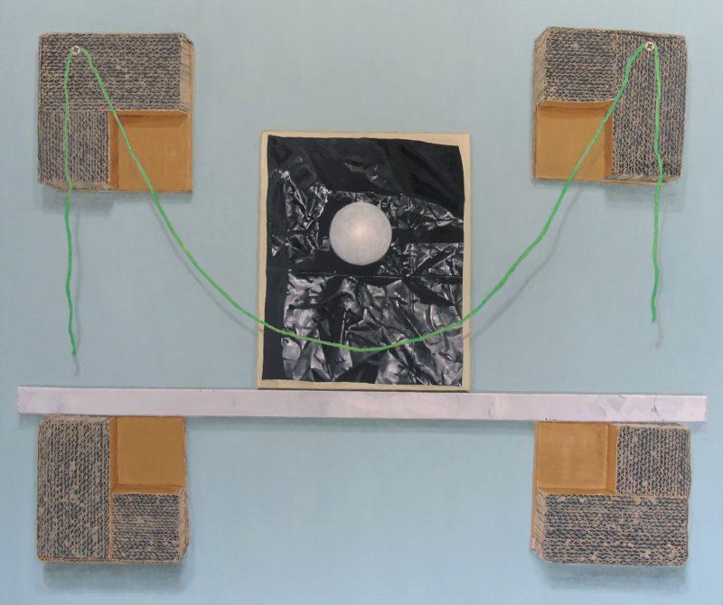 Julian Aubrey Smith, Common thread 1 2016 oil and acrylic on aluminium composite panel 51 x 61 cm