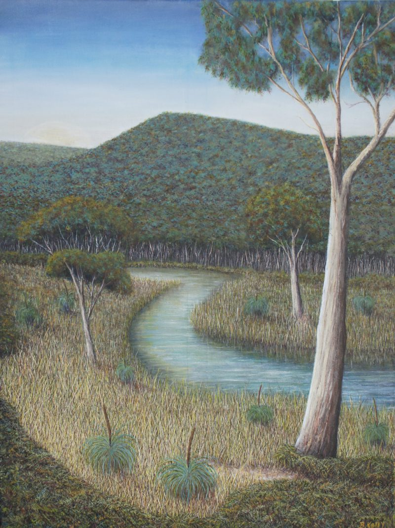 Robert Kelly, Chinaman's Creek 2016 oil and acrylic on canvas 100 x 75 cm
