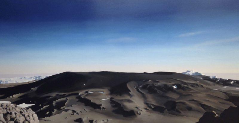 Mark McCarthy, Kilimanjaro summit 2014 oil on canvas 90 x 175 cm