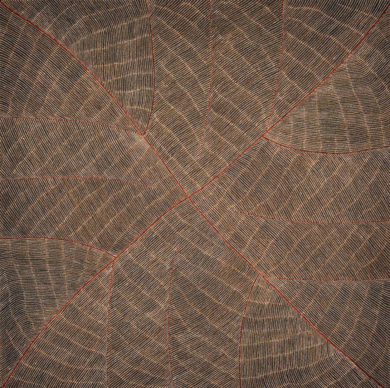 Margaret Loy Pula, Anatye (Bush Potato) 2014 acrylic on linen 151 x 152 cm