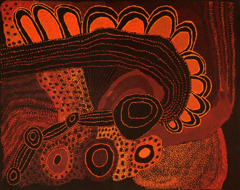 Judy Martin, Ngayuku Mamaku Ngura (My father's country) 2019 acrylic on linen 122 x 152 cm
