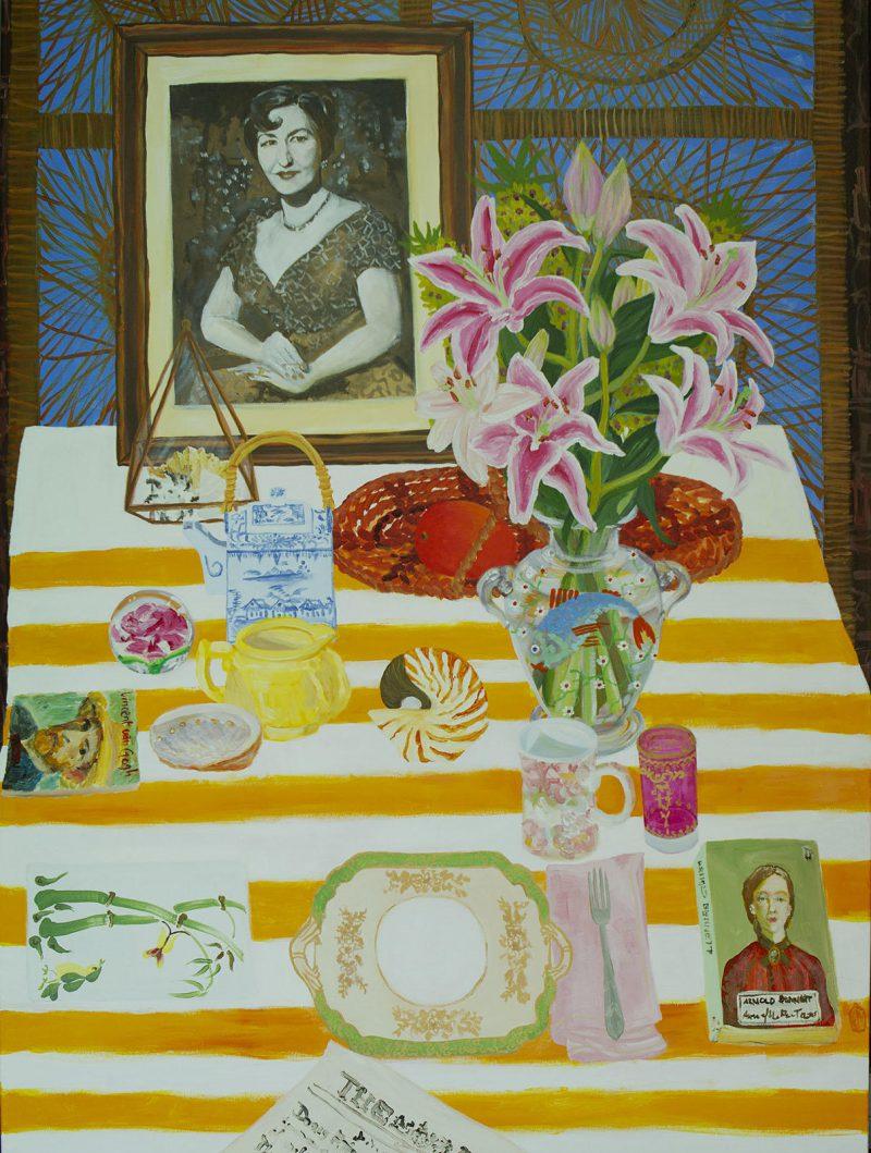 Kiata Mason, Breakfast with Doris 2019 acrylic on canvas 122 x 91 cm