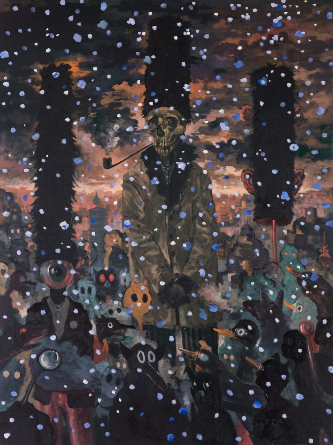 Michael Vale, Snow 2016 oil on linen 122 x 92 cm Winner of the 2017 Bayside Acquisitive Art Prize