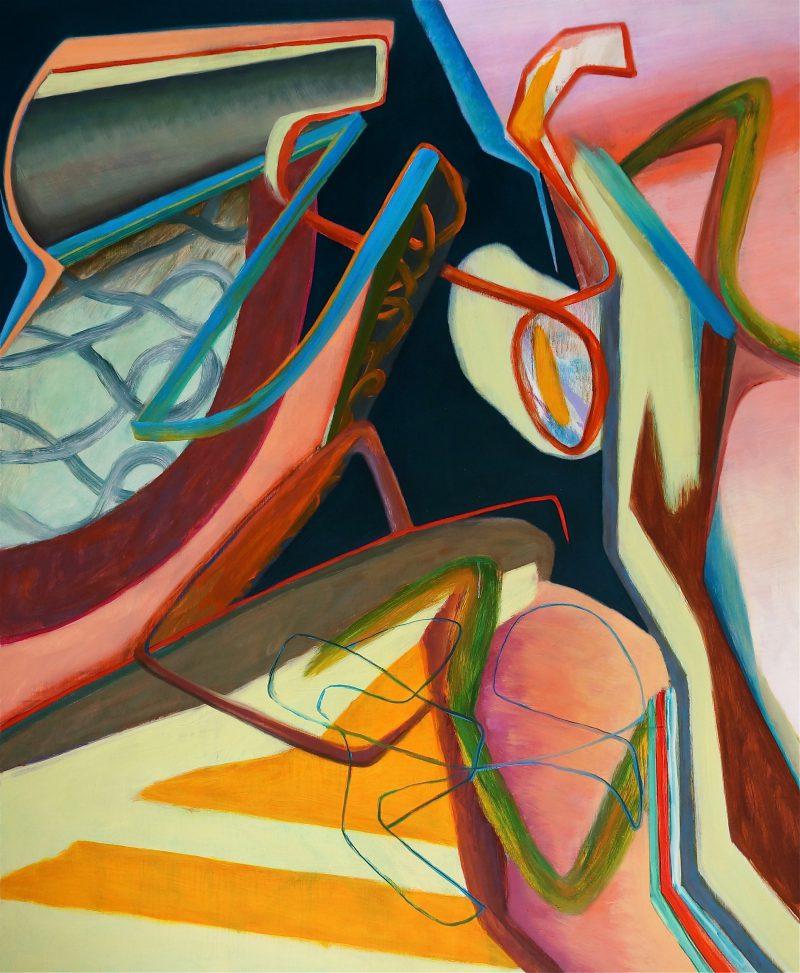 David Palliser, Meshmood 2015 oil on canvas 168 x 138 cm