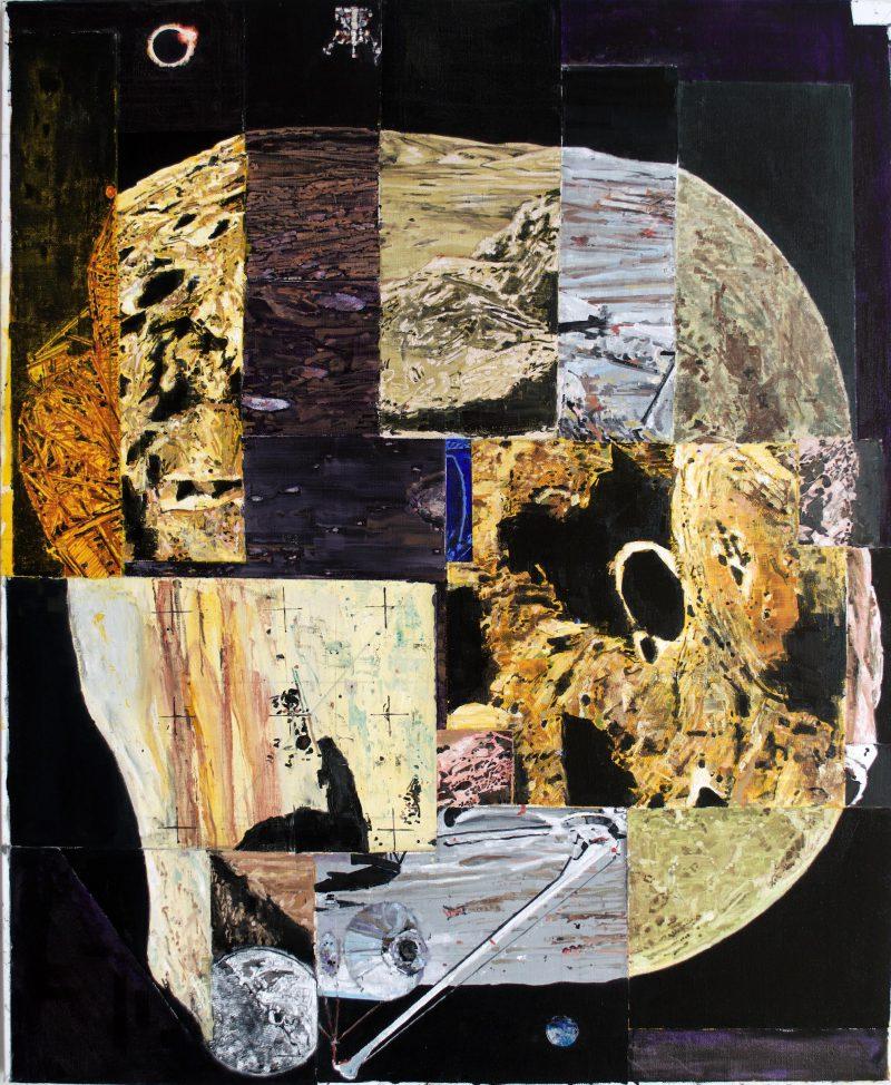 Steven Rendall, Undead moon 2019 oil on linen 137 x 112 cm
