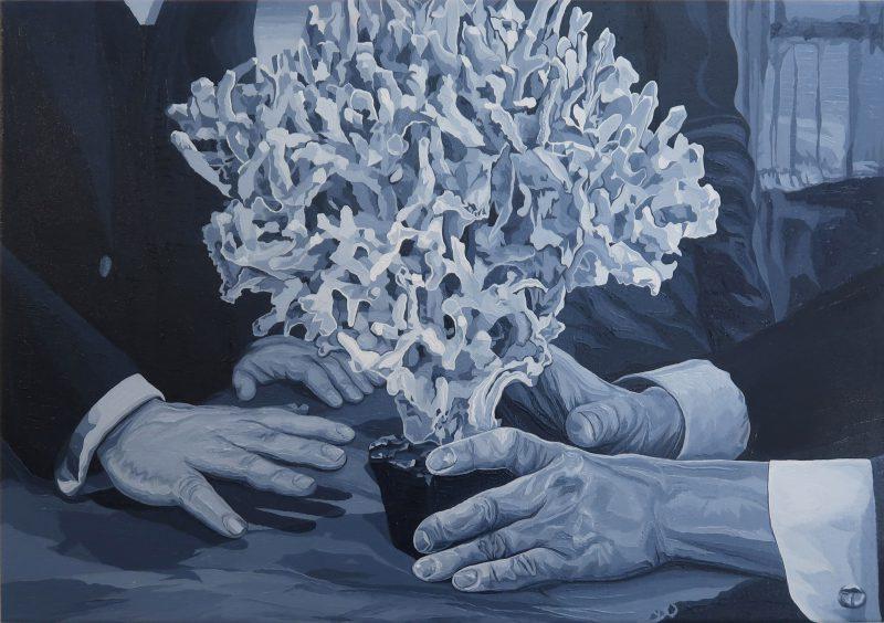 Brad Rusbridge, Relic 2018 oil on canvas 36 x 51.4 cm