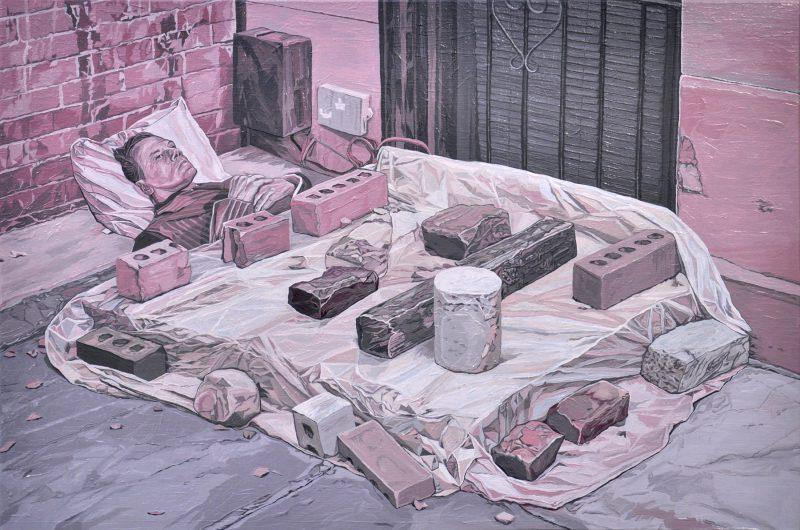 Brad Rusbridge, Weighted 2015 oil on canvas 40 x 60 cm