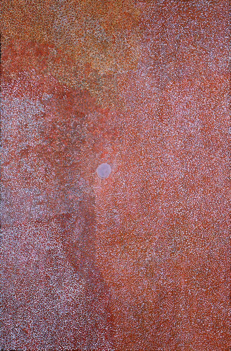 Imelda (Yukenbarri) Gugaman, Winpurpurla (bushtucker) 2018 acrylic on canvas 120 x 80 cm