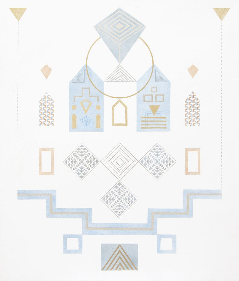 Yuria Okamura, Recollection 2017 acrylic on board 70 x 60 cm
