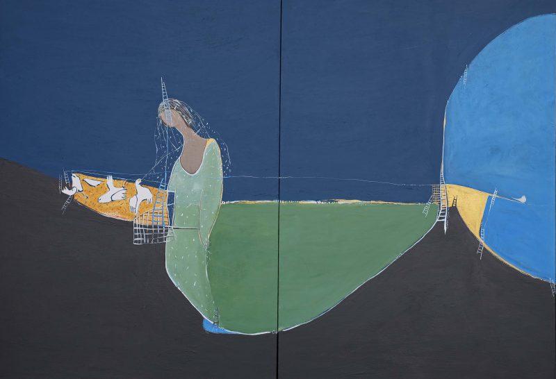 Fatemeh Vafaeinejad, The bride on shore 2016 acrylic on canvas 122 x 183 cm
