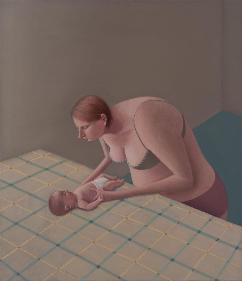 Prudence Flint, Baby 2015 oil on linen 105.5 x 90.5 cm