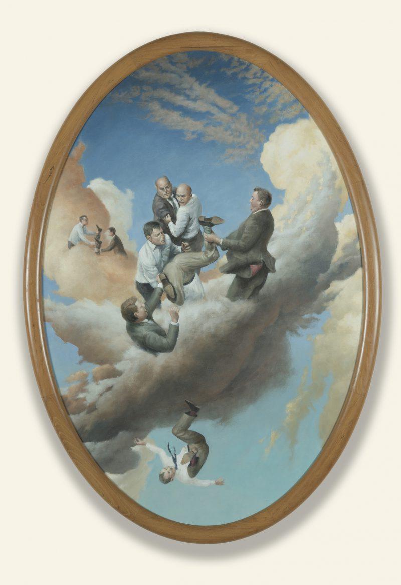 James Guppy, Negotiated settlement 2015 acrylic on polycotton 120 x 82 cm