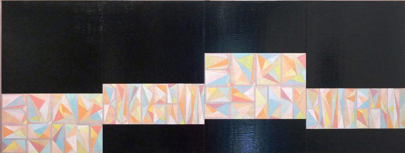 Jordan Marani, BULLSHIT 2016 pencil, acrylic and enamel on board 61 x 162.5 cm