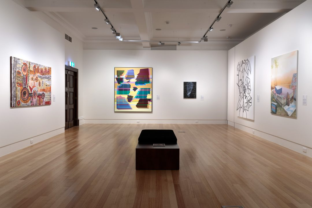 Installation view of the 2020/21 Bayside Acquisitive Art Prize finalist exhibition
