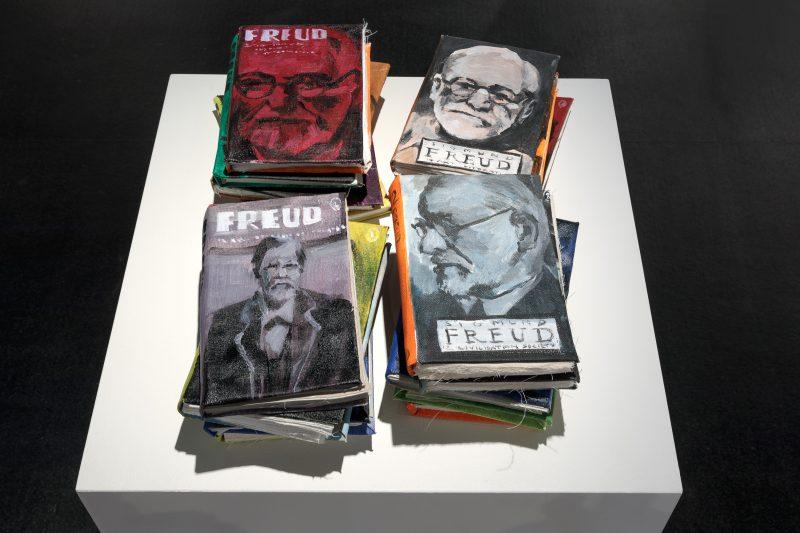 Linda Judge, The psychopathology of everyday life 2020 acrylic on canvas and cotton 70 x 80 x 30 cm