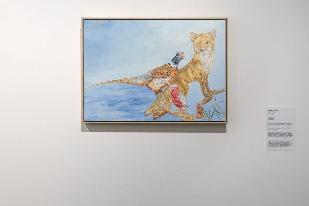 Michelle Zuccolo Habitat 2020, oil on canvas, 50 x 70 cm. Winner of the 2020/21 Local Art Prize