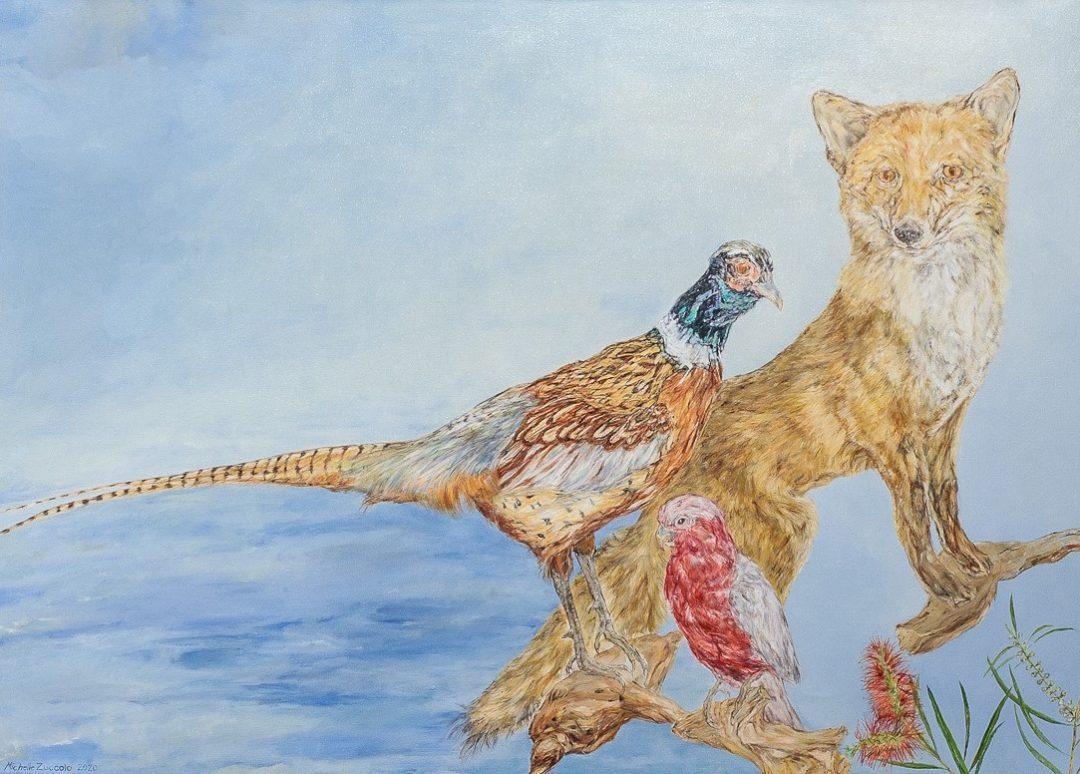 Michelle Zuccolo, Habitat 2020, oil on canvas, 50 x 70 cm. Courtesy the artist Winner of the 2020/21 Local Art Prize