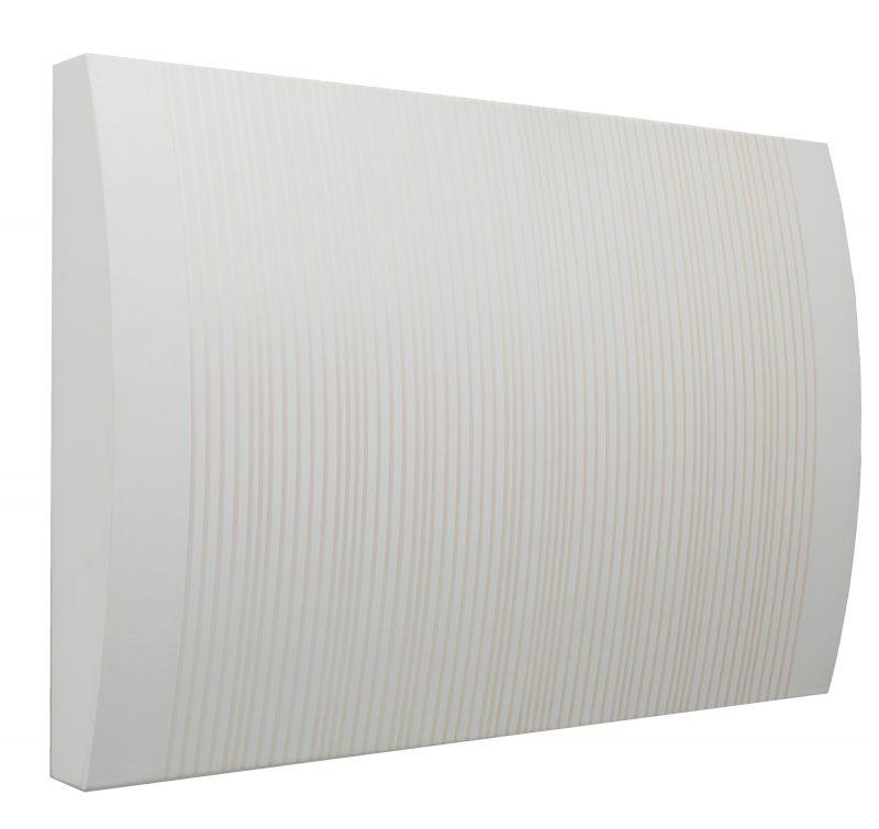 Magda Cebokli, Bosque de Luz 2020 acrylic on canvas and wood 40.5 x 61 cm