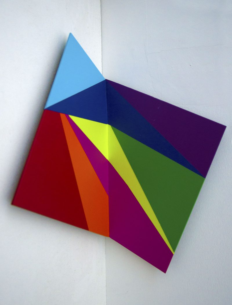 Emma Coulter, Take-away spatial painting #1 2020 acrylic on board 44 x 33 x 20 cm