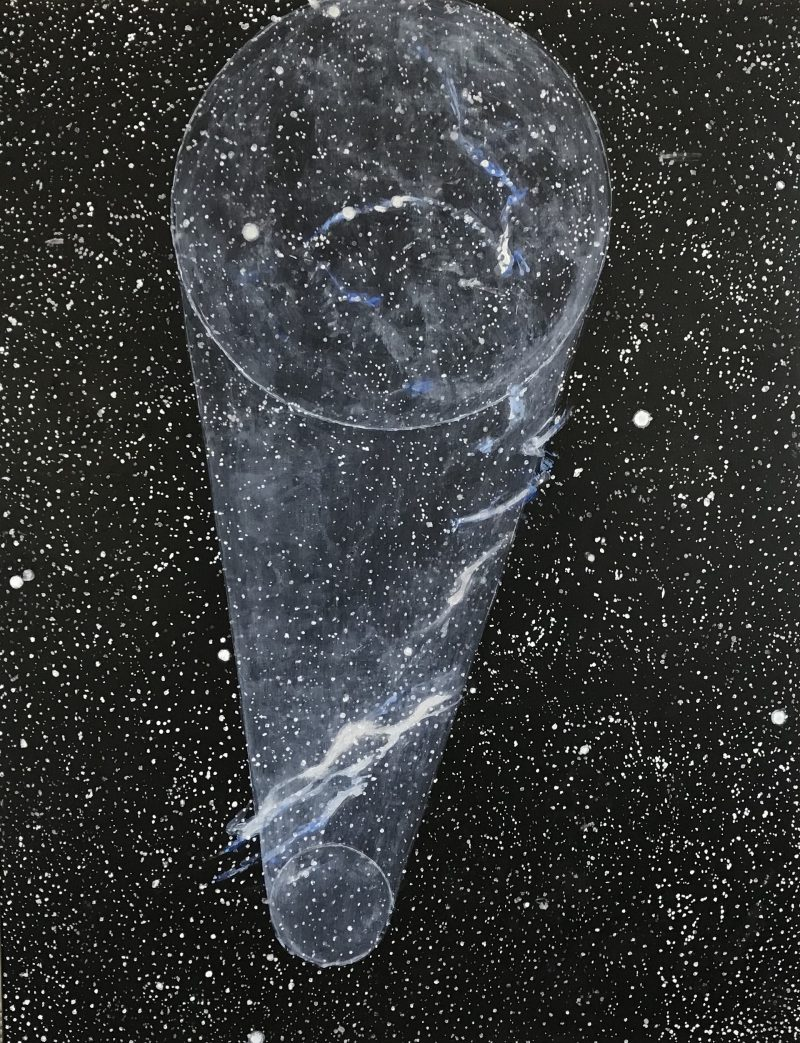 Brett Colquhoun, Telescope (veil) 2019 acrylic on linen 75 x 58 cm
