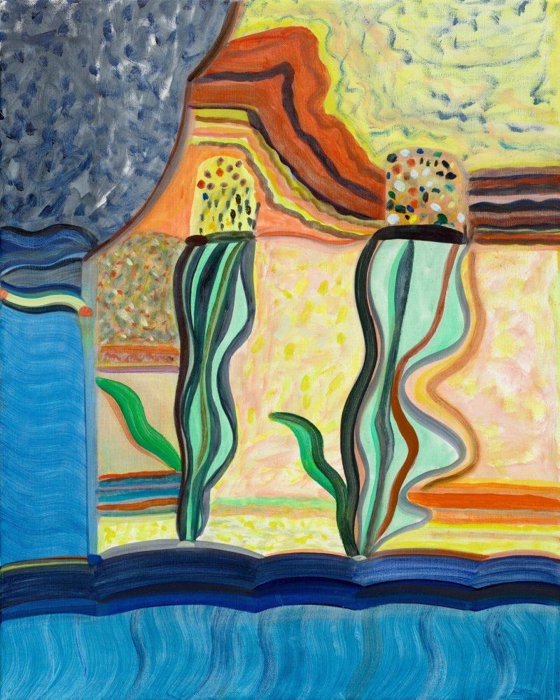 Emily Ferretti, Two corns forming 2019 oil on linen 51 x 41 cm
