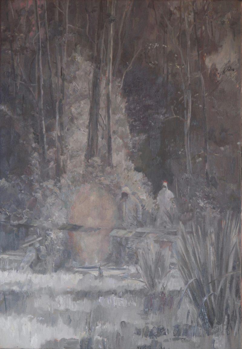 Simon Grennan, Mutual contamination 3 2020 oil on linen 66 x 45.5 cm