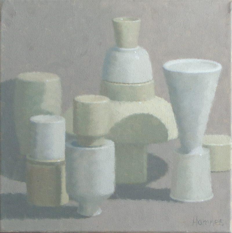 Rose Anna Hamnes, Upend 2020 oil on canvas 30.5 x 30.5 cm