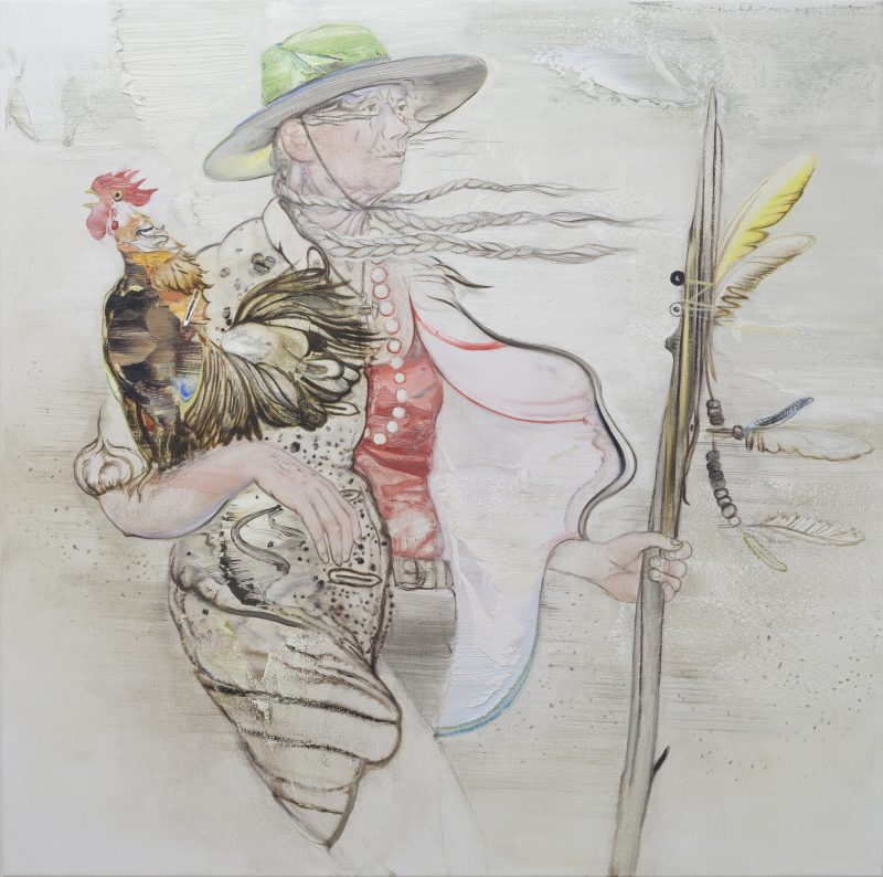 Tim McMonagle, Put upon 2020 oil on linen 138 x 138 cm