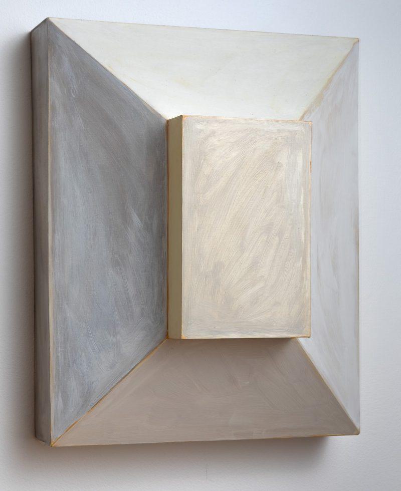 Anna Rowbury, Astragal 2019 oil on plywood 50 x 40 x 23 cm