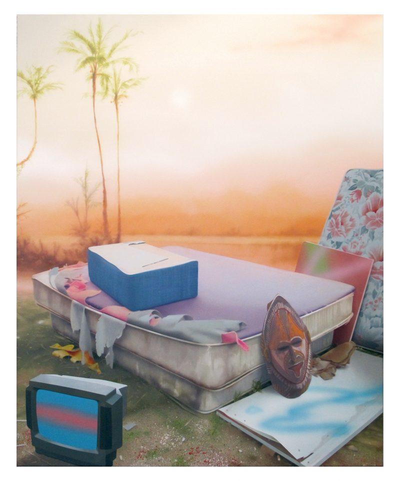Darren Wardle, Ex tropical 2020 acrylic on linen 153 x 122 cm